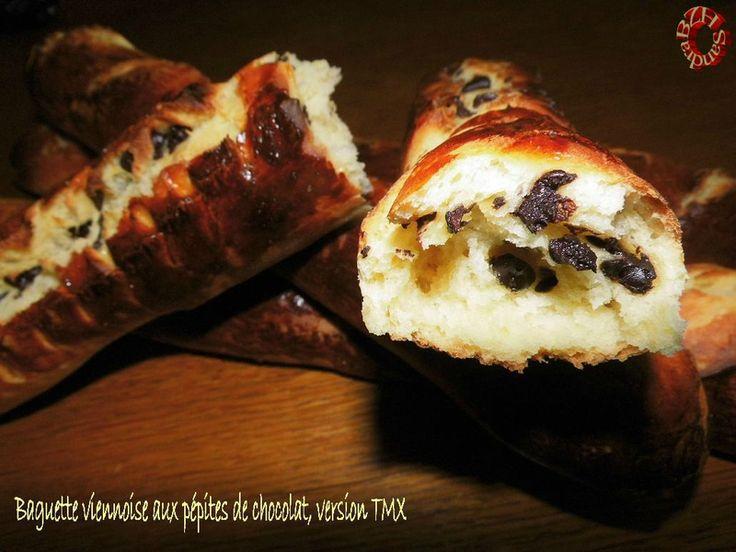 Baguettes viennoises aux pépites de chocolat, version TMX
