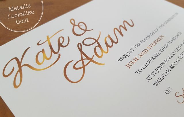 Metallic Lookalike Gold from Alannah Rose Stationery