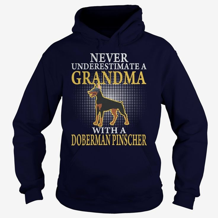 GRANDMA WITH A #DOBERMAN PINSCHER SHIRTS, Order HERE ==> https://www.sunfrog.com/Pets/GRANDMA-WITH-A-DOBERMAN-PINSCHER-SHIRTS-Navy-Blue-Hoodie.html?6789, Please tag & share with your friends who would love it, #renegadelife #superbowl #jeepsafari  #doberman pinscher natural ears, doberman pinscher funny, doberman pinscher blue  #family #animals #goat #sheep #dogs #cats #elephant #turtle #pets