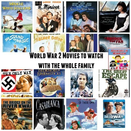 We watched some great World War 2 movies to learn about the war and give us a feel for the time. #WorldWar2