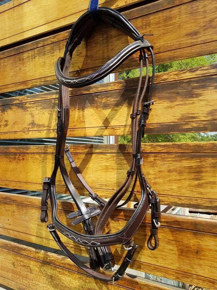 Novas Equestrian leather relief bridle.