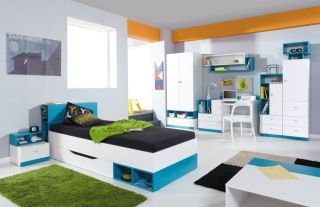 Detská izba Mobi poly C biela/tyrkys