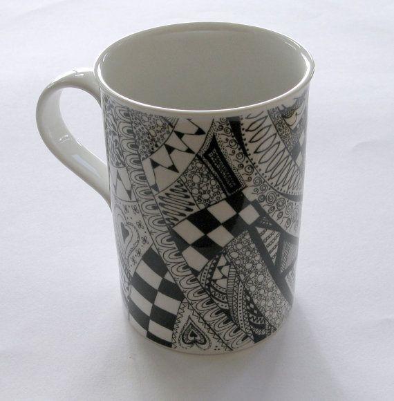 smart idea porcelain coffee mugs. Black and white mug zentangle doodle porcelain coffee tea 79 best Mugshot images on Pinterest  Ceramic mugs Porcelain