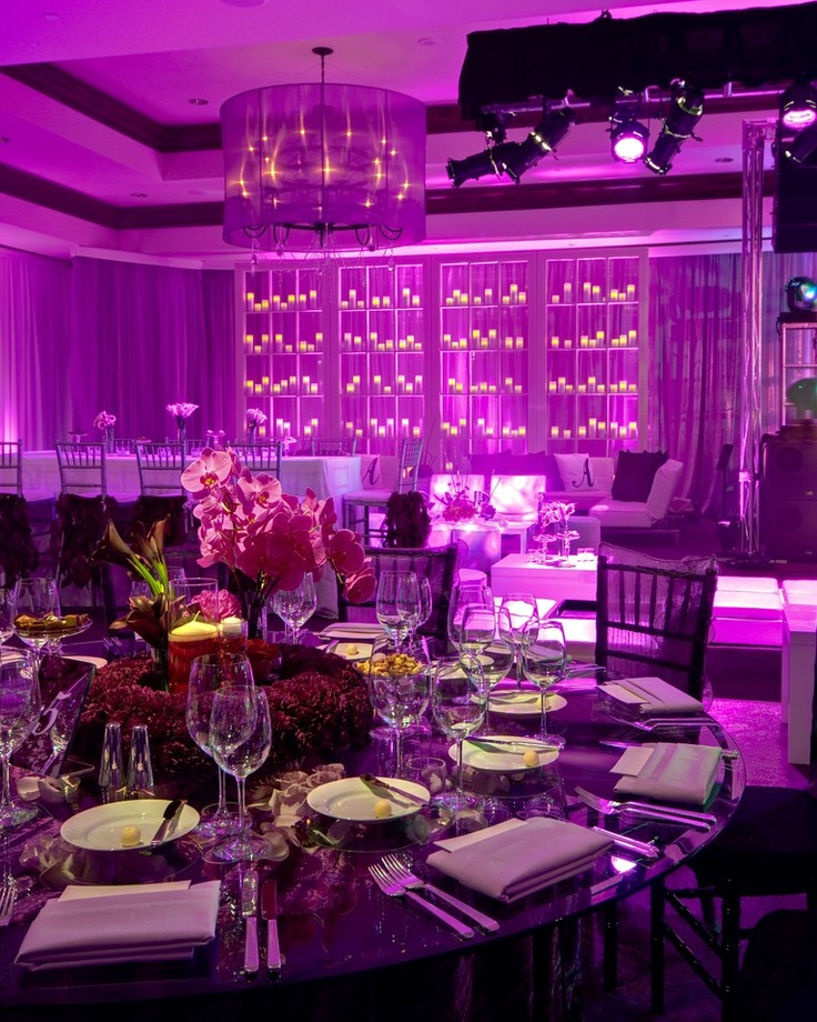 purple on purple wedding reception (coordinated by sarah granger-twomey for Along Came Mary, photo by 2me Studios)