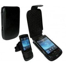 Forro BlackBerry Torch 9800 Piel Frama iMagnum - Negra  Bs.F. 563,39
