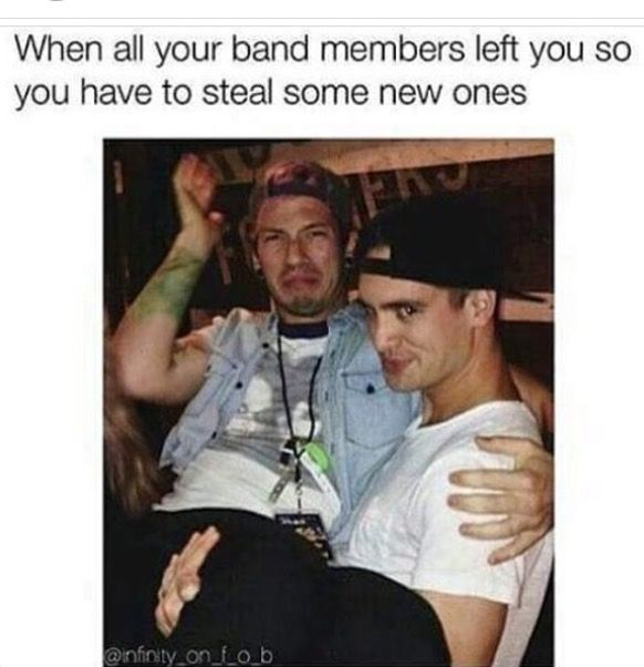 Josh is out of the band, so technically it wasn't stealing....