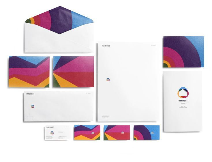 colourful stationery suite by casey martin design