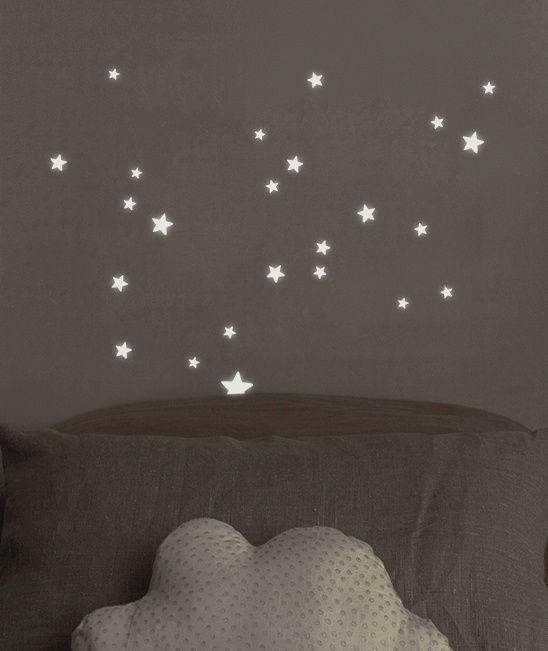 Glow in the Dark sterren - Muursticker   Sterren   Gras onder je voeten