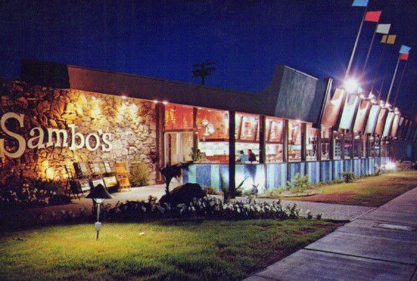 Sambo's Pancakes Restaurant Indio CA Diner Googie