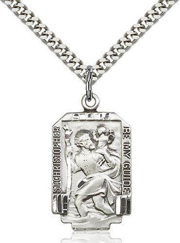 Unique Saint Christopher Medal with chain!!!