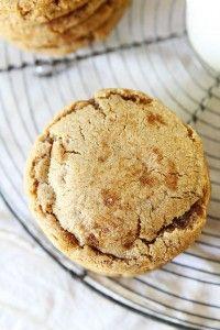 Brown Sugar Toffee Cookies Recipe on twopeasandtheirpod.com My favorite kind of sugar cookie!