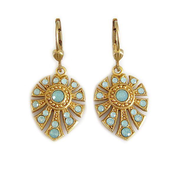 Catherine+Popesco+Bracelet | catherine popesco earrings 14k gold plated art deco petite fan crystal ...