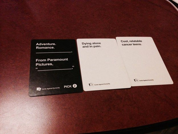 Literally every YA novel these days. | 20 Cards Against Humanity Games That Got WAY Too Real