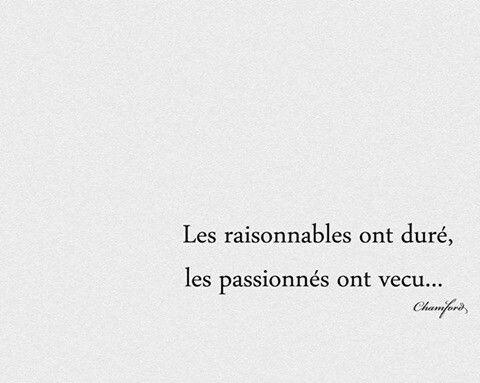 A nous de faire durer la passion..