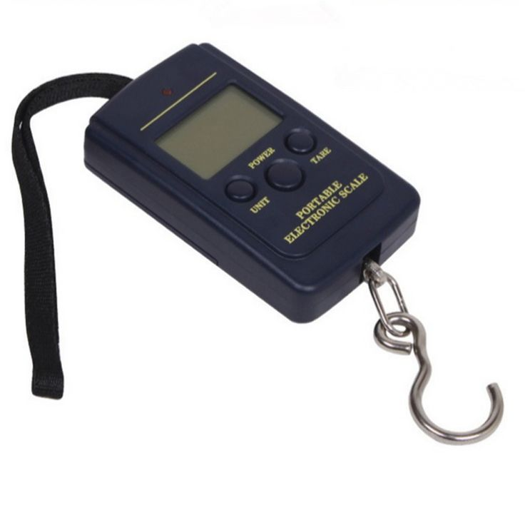 Mini Digital Hand Held 0.01kg - 40kg Fish Hook Hanging Scale Electronic Weighting Luggage Scale Blue bascula digital cocina