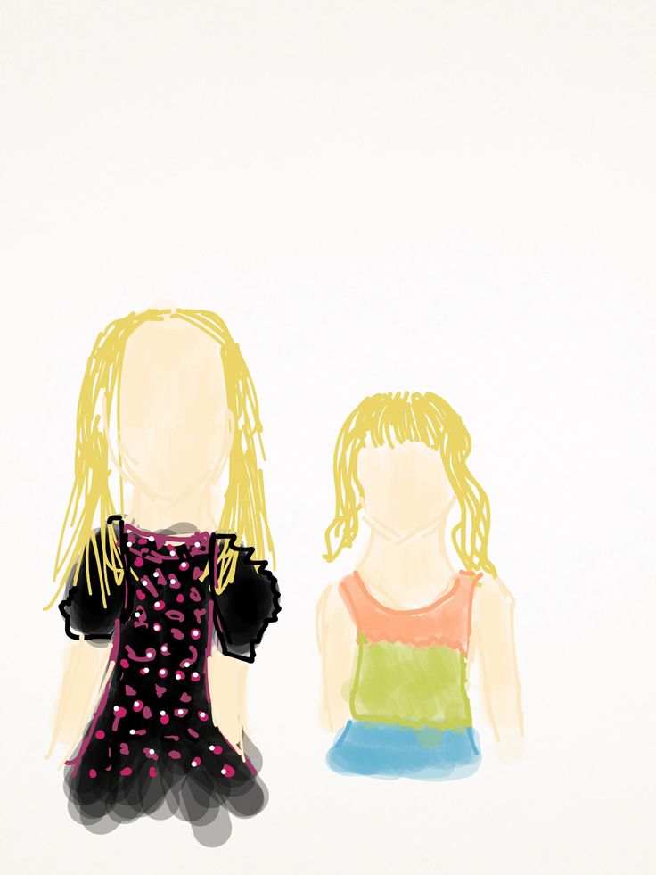 A portrait of me and my younger cousin Ayla