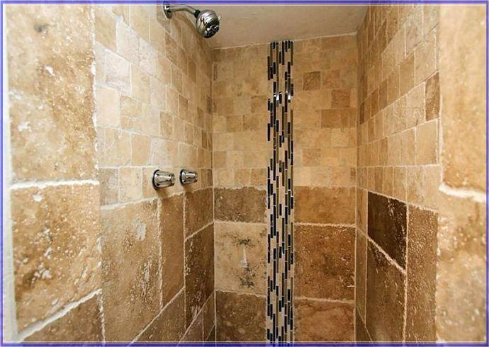 64 best bathroom redo ideas images on pinterest bathroom for Tumbled marble bathroom designs