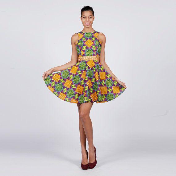 Golden Treasures Ankara Dress Summer Dress Ankara by MyAshoMarket