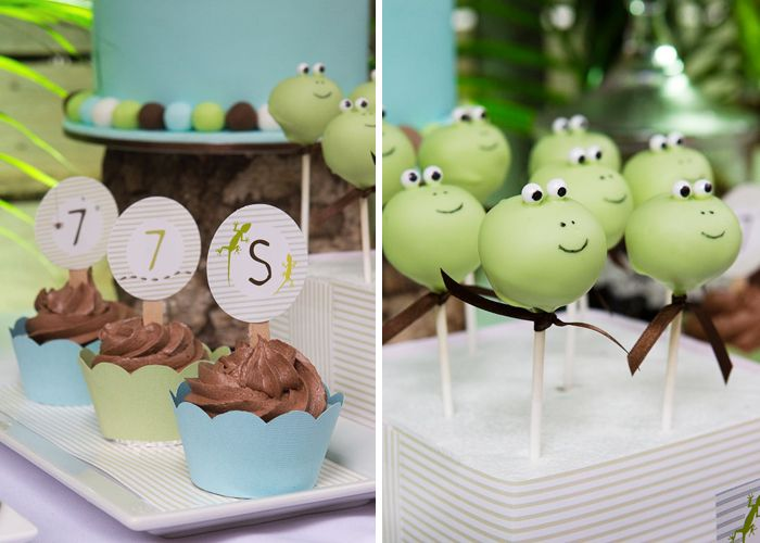 Reptile Party!: Amy Atlas, Reptiles Parties, Birthday Parties, Desserts Features, Cake Pop, Rumpus Guest, Parties Ideas, Reptiles Rumpus, Guest Desserts