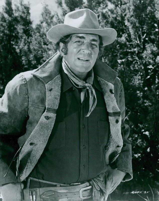 "Vintage photo of Dean Martin in the movie ""Showdown"""