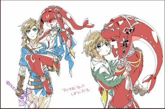 Mipha, Link | Legend of Zelda Breath of the Wild