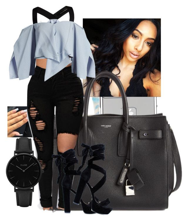 literally drunk asl// Portia by k1ngsnqueens on Polyvore featuring polyvore fashion style Roland Mouret Yves Saint Laurent Royce Leather CLUSE BERRICLE Case-Mate Victoria's Secret clothing