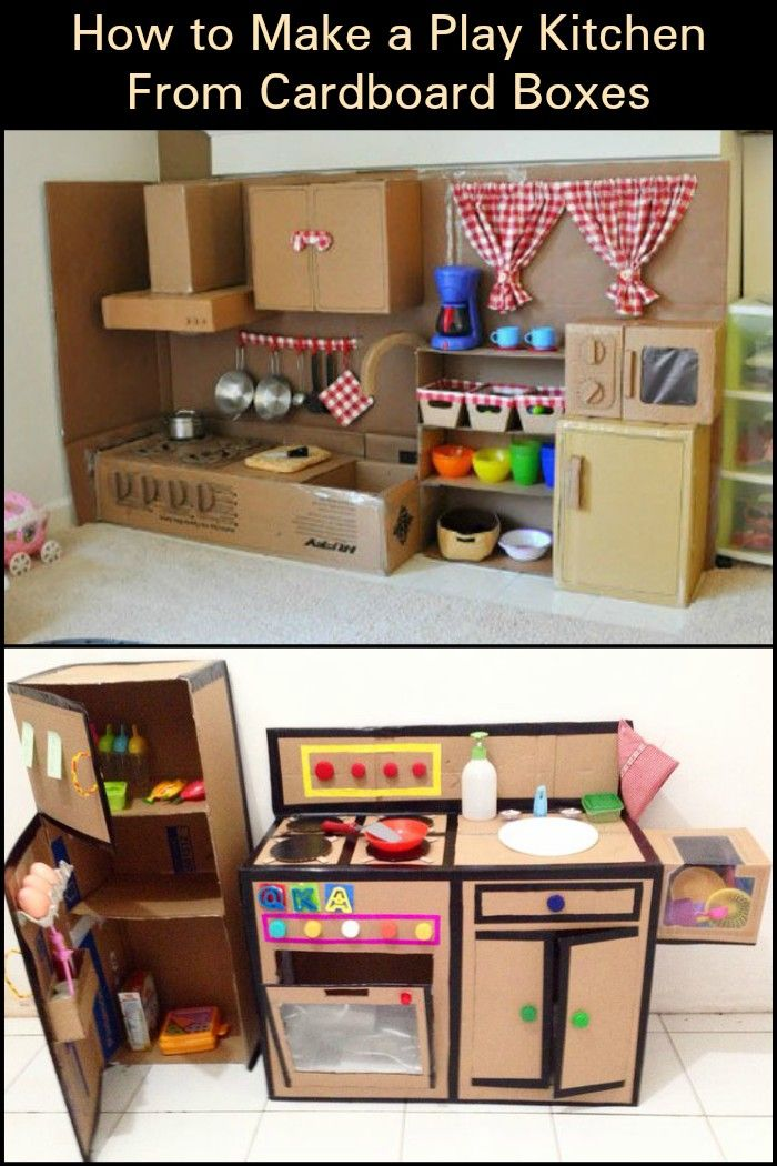 Have your kids been asking for a play kitchen set? Diy