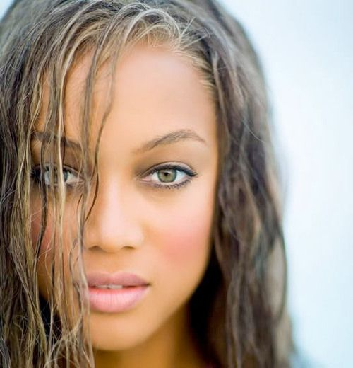 Tyra and I have the same hazel eyes & skin color. #beauty icon