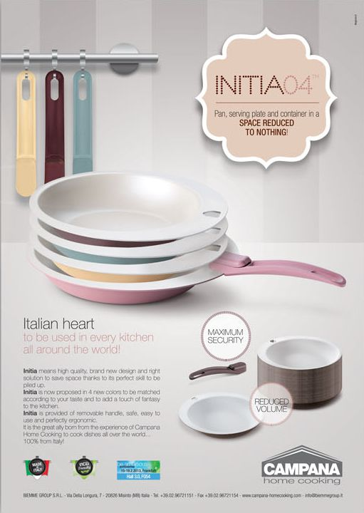 cookware ADV concept for Campana Home Cooking