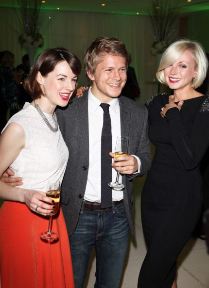 Jessica Raine, Helen George and George Rainsford attend The English Ballet - Beyond Ballet Russes Party April 2012