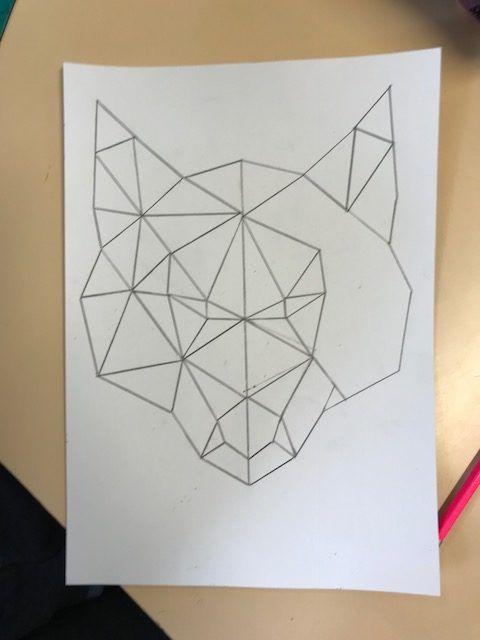 Le loup & la symétrie   Maitresse de la forêt
