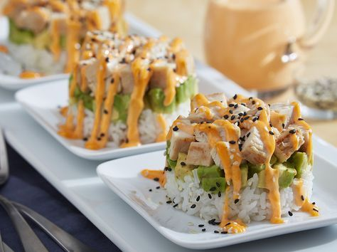 Our deconstructed California roll chicken stack is both elegant and delicious, but so easy to prepare!