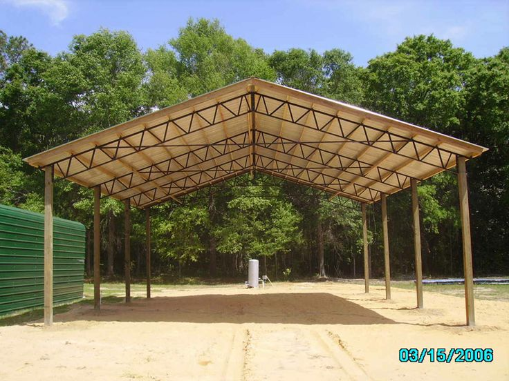 Metal Shelters For Batting Cage : Best finished pole barns steel truss images on