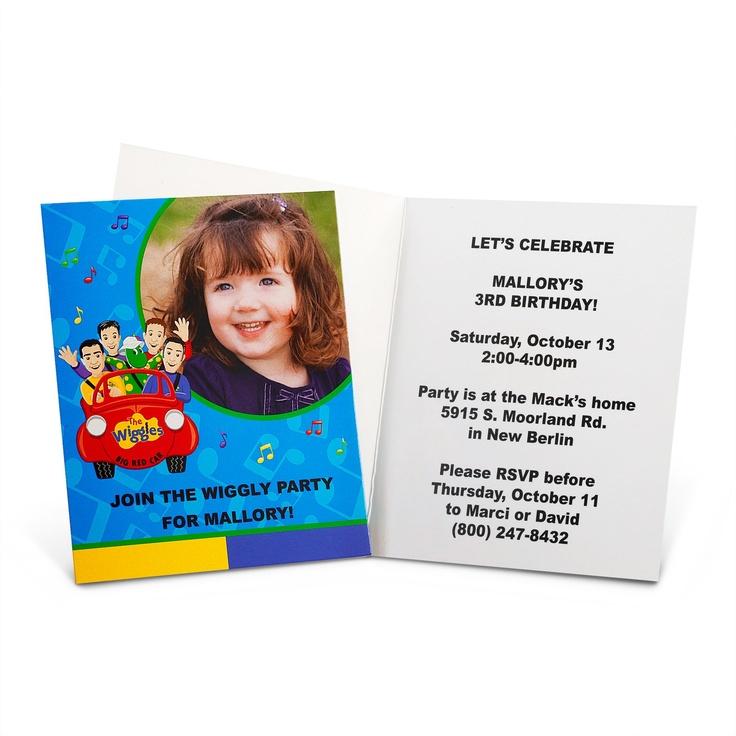 Wiggles Birthday Invitation