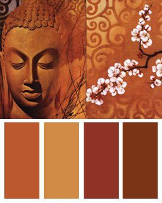 Palette de couleurs Bouddha Groupe