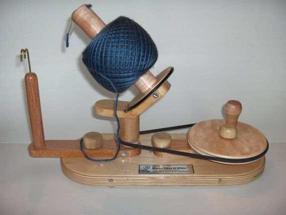 Yarn Ball Winder by Wood That It Whir Handmade by WoodThatItWhir
