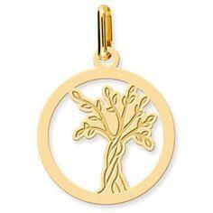 Médaille Arbre de Vie ajourée (Or jaune) €93
