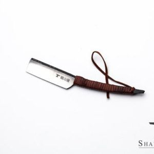 Japanese Straight Razor kit with Strop of Your Choice Featuring Shave Ready ShaveSmith Kamisori Straight Razor With A Gentle Curved Handle