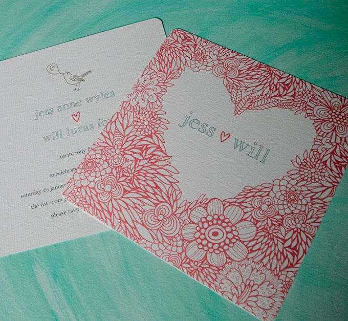 All you need is love wedding invitation.  The Paper Mint || thepapermint.com.au