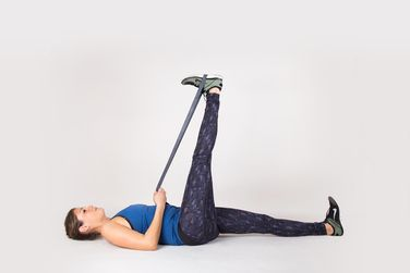 5. Wall Hamstring Stretch  http://greatist.com/move/knee-pain-relief?utm_source=pinterest&utm_medium=social&utm_campaign=onsiteshare If you're feeling weak in the knees (and not in a good way), try these easy exercises to kick knee pain to the curb.