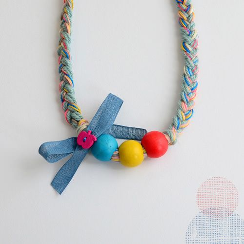 DIY gorgeous braided, beaded jewellerry for the girls from Bloesem Wears - handmade Charlotte