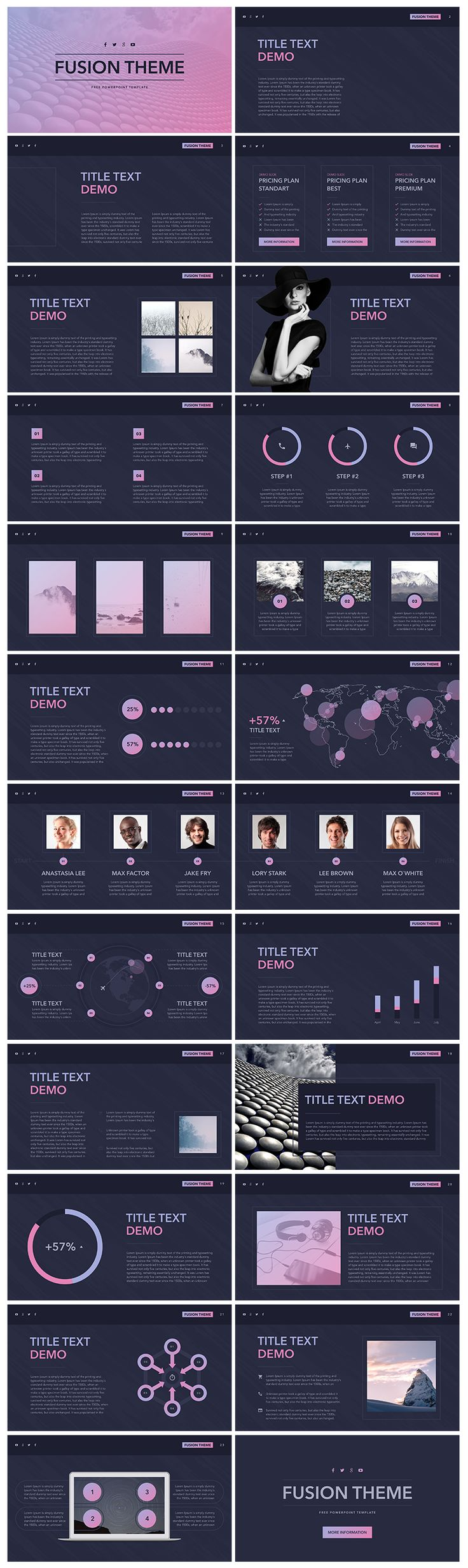 40 best free powerpoint template images on pinterest free stencils the free powerpoint template fusion is a multipurpose template with a variety of installed tools such as biographies tables maps graphs and charts toneelgroepblik Image collections