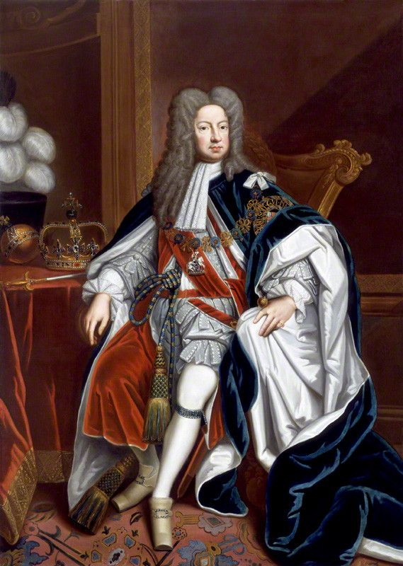 Portrait of King George I by Sir Godfrey Kneller, Bt. 1716.  © National Portrait Gallery