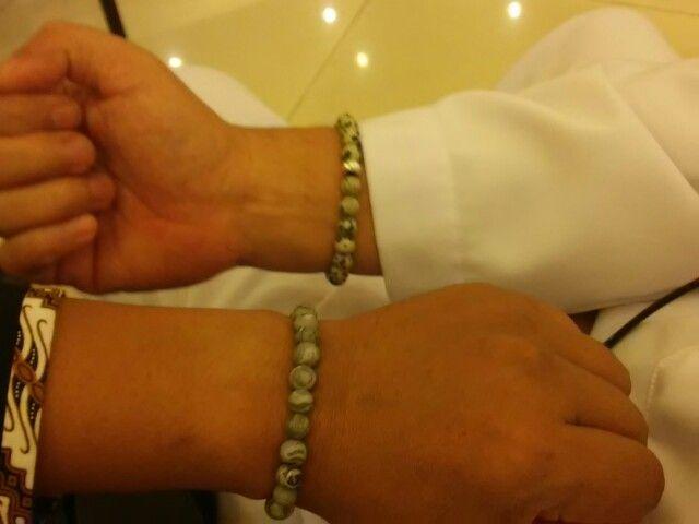 Education stake holders wearing my stone bracelets, dalmation stone and grey pyrus