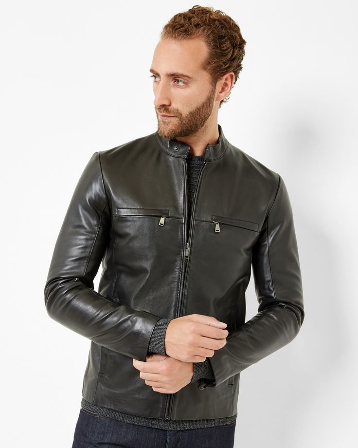 I think you'll love this one? Leather jacket - Black | Jackets & Coats | Ted Baker  Around $745.