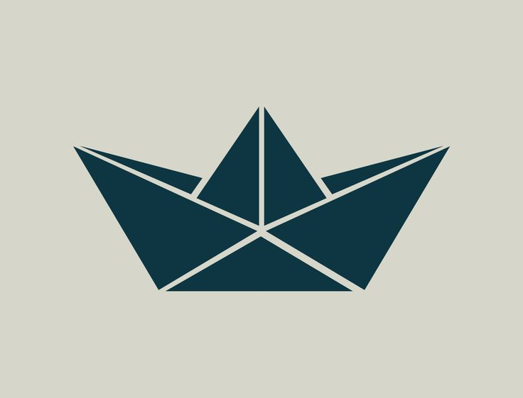 Pochoir de bateau. Origami bateau. Pochoir origami (ref 444) : Décoration…