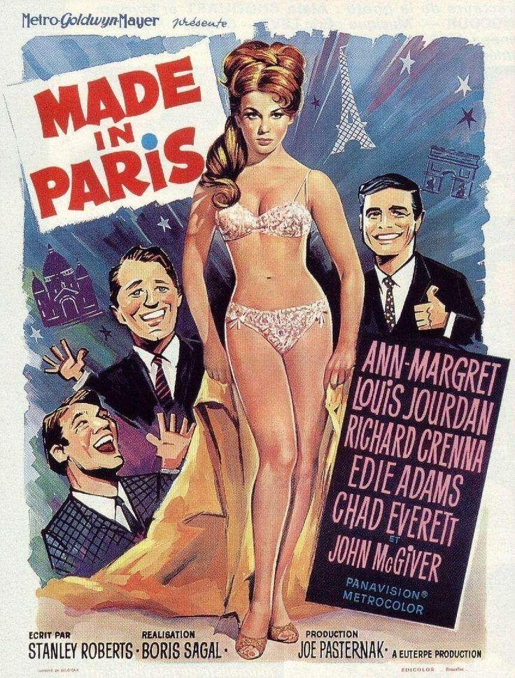 """Made In Paris"" (1966) Stars: Ann-Margret, Louis Jourdan, Richard Crenna, Edie Adams, Chad Everett, Edie Adams, John McGiver, Marcel Dalio ~ Director: Boris Sagal (Nominated for 3 Laurel Awards 1966)"