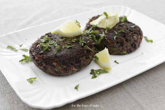 black rice - tuna burgers  /// zwarte rijst - tonijn burgers