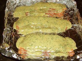 Gebackener Lachs mit Senf-Dill-Guss 11