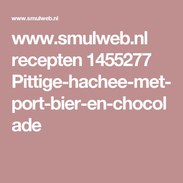 www.smulweb.nl recepten 1455277 Pittige-hachee-met-port-bier-en-chocolade